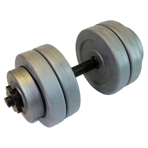 Гантель сборная винил 10 кг (замок гайка), EURO-CLASSIC, серыйГв10Основные характеристикиОбщий вес: 10кгТип: сборно-разборнаяВ комплекте:Гриф гантельный: 1штДлина: 41смДиаметр: 25,4ммЗамок: гайка Вейдера с резьбой (пластик)Материал: поливинилхлоридМатериал рукояти: пластик с противоскользящей насечкой (не вращающаяся)Вес грифа: 0,22кгДиски: 1кг - 2шт; 2кг - 4шт.Тип: пластиковыйПосадочный диаметр: 26ммМатериал корпуса: поливинилхлоридВнутренний наполнитель: композитная смесь (песок + цемент)Цвет: серыйВид применения: домашнее использованиеСтрана-производитель: РоссияУпаковка: индивидуальная коробкаИз данного набора можно собрать гантель общим весом 10кг.Отличный вариант для начинающих.