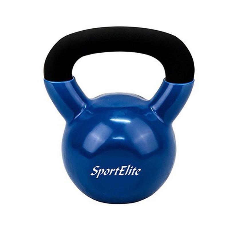 Гиря чугунная обрезиненная SportElite 12 кг - Оборудование для силовых тренировок