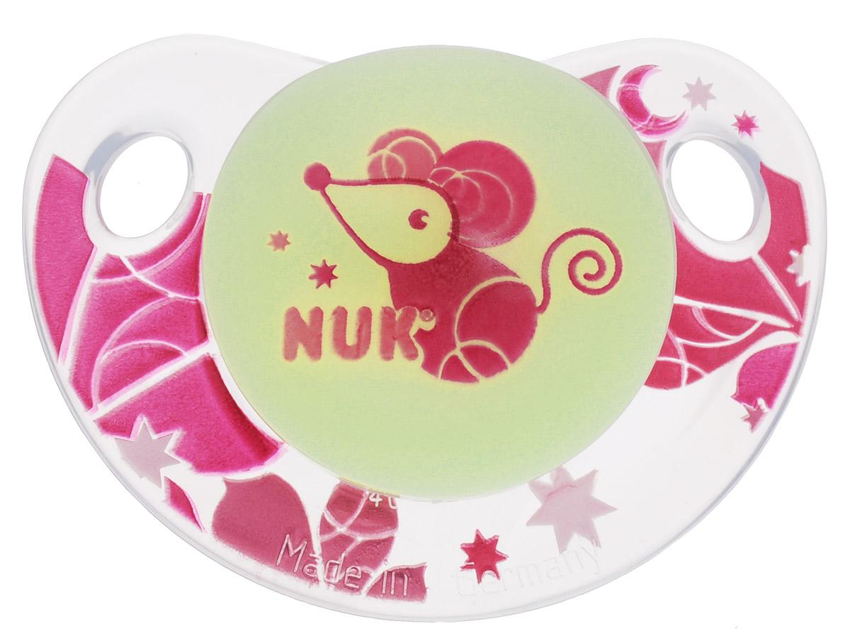 NUK Пустышка силиконовая ортодонтическая Мышка от 18 до 36 месяцев пустышка силиконовая nuk genius ортодонтическая от 18 до 36 месяцев цвет белый голубой