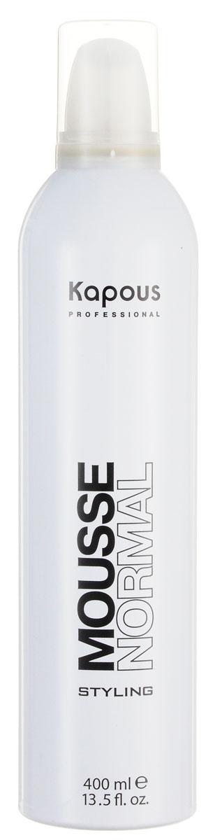 Kapous Professional Мусс для укладки волос нормальной фиксации 400 млMP59.4DМусс для укладки волос нормальной фиксации Kapous предназначен для всех типов волос, оставляя их послушными и мягкими.Великолепное укладочное средство.Придаёт объём и делает воздушной любую причёску без утяжеления.Защищает волосы от воздействия горячего фена и солнечных лучей.Результат: Мусс для волос, увеличивая объем, делает любую прическу влздушной, обеспечивает длительную фиксацию.
