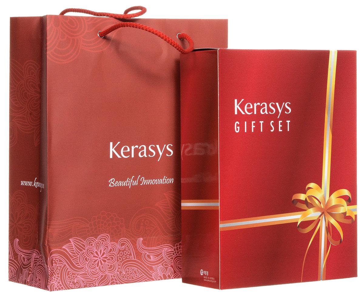 KeraSys Подарочный набор для волос Oriental Premium: шампунь, кондиционер, мыло, 2 штAC-2233_серыйПодарочный набор KeraSys Oriental Premium состоит из шампуня, бальзам-ополаскивателя для волос и двух мыл. К набору прилагается подарочный пакет с двумя ручками.Шампунь KeraSys Oriental Premium защищает от ультрафиолетовых лучей. Восточные травы помогают защитить кожу головы от вредных воздействий и компенсируют нехватку коже липидов. Присутствующие в составе ингредиенты укрепляют корни волос. Дуопротеин восстанавливает поврежденные волосы. Кератин делает поврежденные волосы более здоровыми и шелковистыми.Кондиционер для волос KeraSys Oriental Premium.Система лечения волос является исключительным набором для ухода за волосами, научно разработанным для восстановления поврежденных волос. Бальзама содержит масло чайного дерева, экстракты восточных трав, которые увлажняют и придают энергию поврежденным волосам. Мыло Vital Energy Barсодержит в своем составе экстракты альпийских трав и морские минералы, которые успокаивают и регенерируют вашу кожу. Мыло обладает ароматом грейпфрута и зеленых оливок, надолго придающих ощущение свежести.Мыло Silk Moistureсодержит в своем составе экстракты альпийских трав и минеральное масло, которые успокаивают и увлажняют вашу кожу, что делает ее более здоровой и красивой. Мыло обладает персиковым ароматом, надолго придающим ощущение блаженства вашей коже. Характеристики:Объем шампуня: 470 мл. Объем бальзама: 470 мл. Вес мыла: 2 х 100 г. Товар сертифицирован.