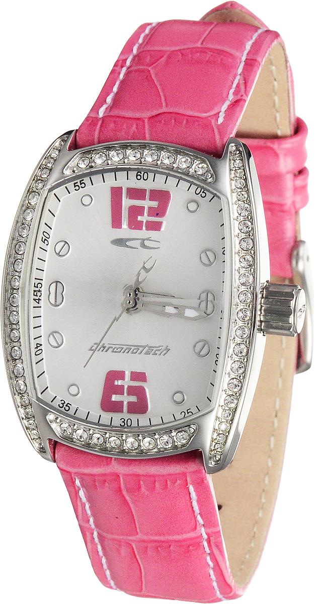 Часы женские наручные Chronotech, цвет: розовый, серебристый. RW0005