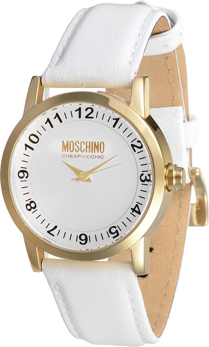Часы женские наручные Moschino, цвет: белый, золотистый. MW0362BM8434-58AEНаручные женские часы Moschino произведены опытными специалистами из материалов самого высокого качества на базе новейших технологий.Они оснащены точным кварцевым механизмом. Водонепроницаемый корпус часов, изготовленный из нержавеющей стали, защищен минеральным стеклом. Ремешок выполнен из натуральной кожи и оснащен классической застежкой.В комплекте с часами поставляется 3 сменные накладки для корпуса, изготовленные из высококачественного пластика.Циферблат круглой формы оснащен арабскими цифрами и тремя стрелками - часовой, минутной и секундной. Изделие укомплектовано в фирменную металлическую коробку с названием бренда.Наручные часы Moschino созданы для современных девушек, которые не желают потерять свою индивидуальность в городской суете.Размер сменных накладок: 3,5 х 3,5 х 1 см; 4 х 4 х 1 см; 3,5 х 3,5 х 1 см.