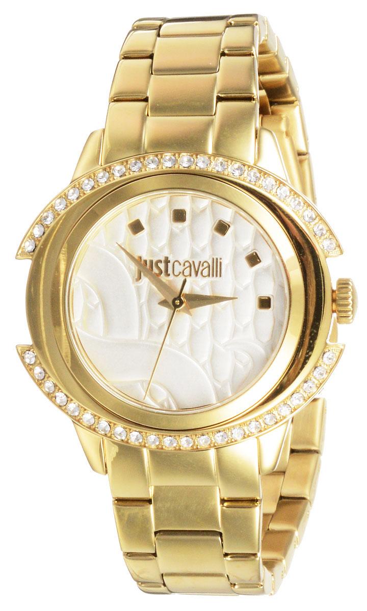Часы наручные женские Just Cavalli Just Decor, цвет: золотистый. R7253216502BM8434-58AEВеликолепные женские наручные часы Just Cavalli Just Decor выполнены из нержавеющей стали. Корпус и циферблат украшены кристаллами Swarovski. Циферблат изделия оформлен отметками, часовой, минутной и секундной стрелками. Также циферблат дополнен названием бренда.Часы оснащены кварцевым механизмом и устойчивым к царапинам минеральным стеклом.Модель обладает степенью влагозащиты 3 atm. Изделие дополнено стальным браслетом, который застегивается на складной замок.Часы поставляются на специальной подушечке в стильной фирменной коробке. Стильные часы добавят шика в ваш повседневный наряд.