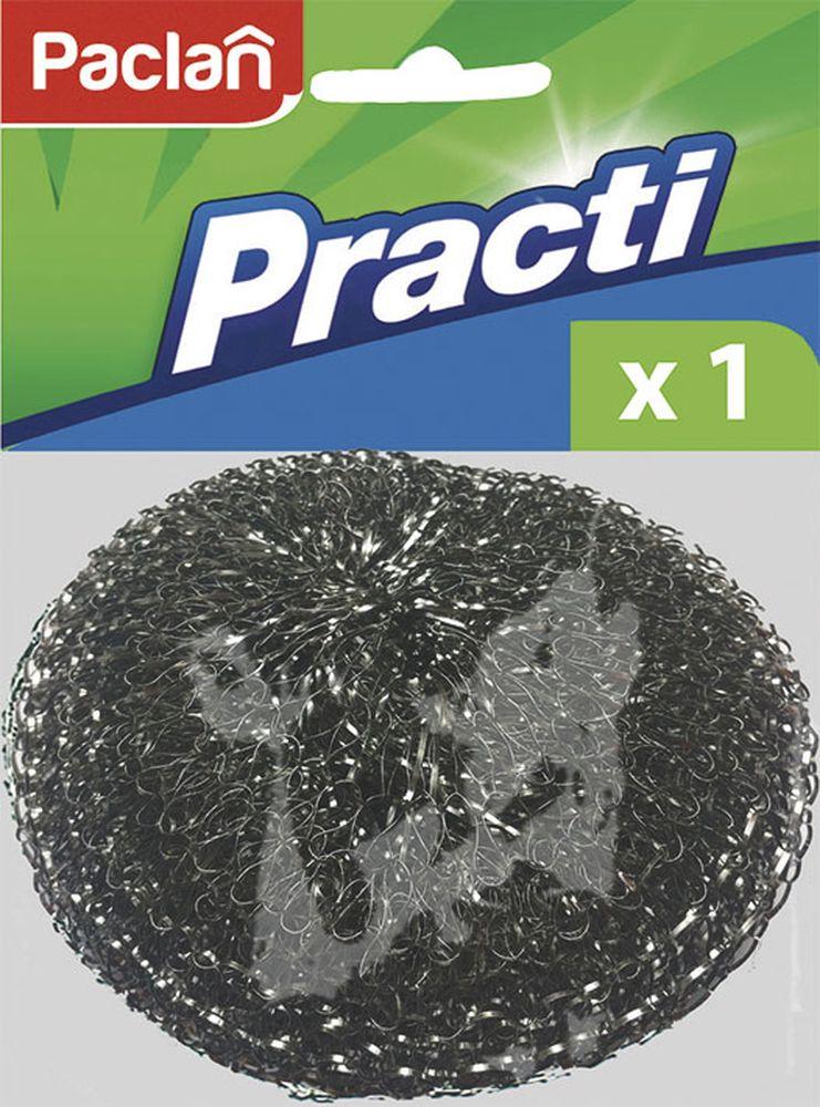 Мочалка металлическая большая Paclan406-075Металлическая мочалка для посуды поможет быстро и эффективно очистить до блеска шампуры и решетки для гриля, поддерживать дно кастрюль и сковородок в идеальной чистоте. Прочная и долговечная.