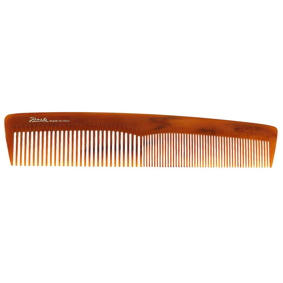 Janeke Расческа для волос. 78803MP59.4DМарка Janeke – мировой лидер по производству расчесок, щеток, маникюрных принадлежностей, зеркал и косметичек. Марка Janeke, основанная в 1830 году, вот уже почти 180 лет поддерживает непревзойденное качество своей продукции, сочетая новейшие технологии с традициями ста- рых миланских мастеров. Все изделия на 80% производятся вручную, а инновационные технологии и современные материалы делают продукцию марки поистине уникальной. Стильный и эргономичный дизайн, яркие цветовые решения – все это приносит истин- ное удовольствие от использования аксессуаров Janeke. Пластиковая линия из высококачественного сырья, большое разнообразие моделей и цветов, кончик расчески специально закруглен, чтобы предотвратить разрыв волоса