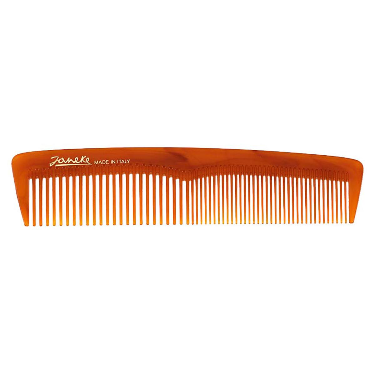 Janeke Расческа для волос в упаковке, 78813MP59.3DМарка Janeke – мировой лидер по производству расчесок, щеток, маникюрных принадлежностей, зеркал и косметичек. Марка Janeke, основанная в 1830 году, вот уже почти 180 лет поддерживает непревзойденное качество своей продукции, сочетая новейшие технологии с традициями ста- рых миланских мастеров. Все изделия на 80% производятся вручную, а инновационные технологии и современные материалы делают продукцию марки поистине уникальной. Стильный и эргономичный дизайн, яркие цветовые решения – все это приносит истин- ное удовольствие от использования аксессуаров Janeke. Пластиковая линия из высококачественного сырья, большое разнообразие моделей и цветов, кончик расчески специально закруглен, чтобы предотвратить разрыв волоса