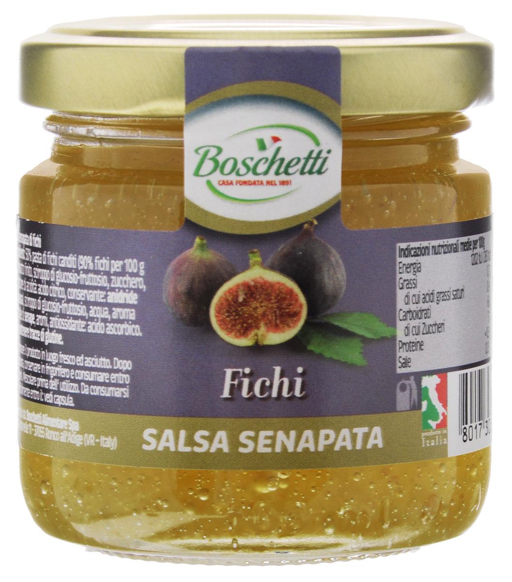 Boschetti Fichi соус сальса, 120 г0120710В основе горчичного соуса Boschetti Fichi лежат горчица и фрукты, подобранные итальянскими кулинарами в нужных пропорциях. Соус имеет в своем составе глюкозный сироп, в результате чего он приобрел мягкую кремовую консистенцию. Уникальное сочетание инжира и горчицы волею итальянских мастеров дает неповторимый вкус.Вкусовая гамма Boschetti наполнена итальянским солнцем и дивным ароматом. Соус может стать основой для множества рецептов. Кроме того, его можно использовать как дополнение к уже готовому блюду. Более всего Boschetti оригинально смотрится на сэндвиче или тартинке. С ним даже обычная утренняя яичница станет деликатесом, а традиционное утреннее чаепитие превратится в полноценный и вкусный завтрак.Состав: паста инжирная с сахаром 50% (90% инжира на 100 г готового продукта: сироп глюкозы-фруктозы, сахар, регулятор кислотности (лимонная кислота), консервант (ангидрид), сироп глюкозы-фруктозы, вода, натуральный ароматизатор горчица, ароматизаторы, антиокислитель (аскорбиновая кислота). Может содержать клейковину.