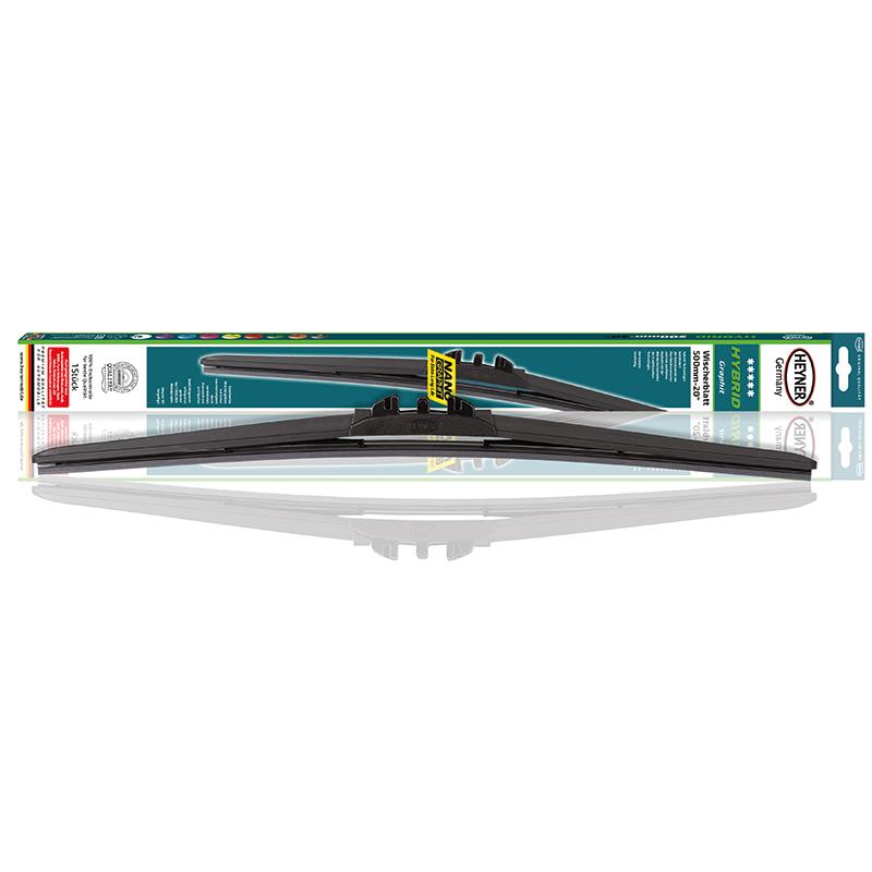 Щетка стеклоочистителя Heyner Hybrid, 45 см, 1 шт2615S545JBЩетка стеклоочистителя Heyner Hybrid может применяться в любое время года. Современная гибридная технология объединяет аэродинамичный профиль бескаркасных щеток и идеальный контакт с лобовым стеклом классической каркасной щетки. Резиновые части выполнены из 100% натурального каучука.