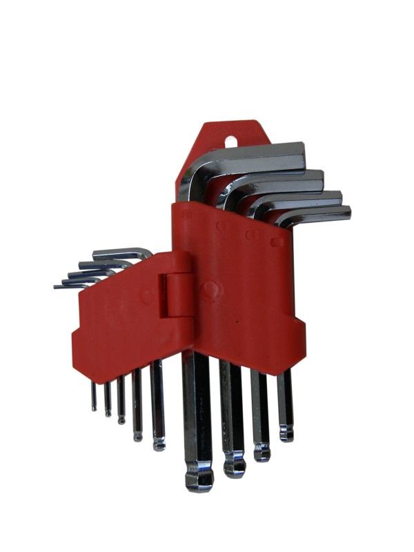 Набор ключей шестигранных Skybear, с шариковой головкой, 9 шт, 1,5-10 мм, стандарт98298123_черныйНабор ключей шестигранных с шариковой головкой, 9 шт. 1.5 - 10 мм, стандартные