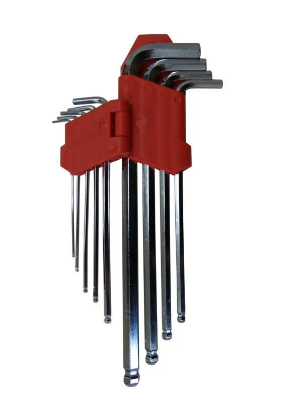 Набор ключей шестигранных Skybear, с шариковой головкой, 9 шт,1,5-10 мм, большие80621Набор ключей шестигранных с шариковой головкой, 9 шт. 1.5 - 10 мм, большие