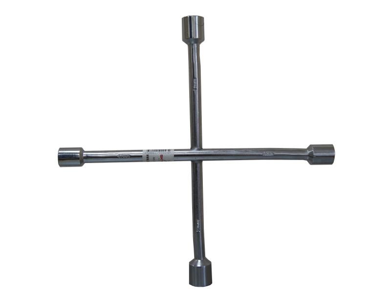 Ключ баллонный крестовой Skybear, 17 х 19 х 21 х 23 мм98298130Баллонный крестовой ключ Skybear применяется для монтажа/демонтажа автомобильных колес. Такой инструмент является идеальным решением для использования в любых автосервисах. Данный ключ имеет четыре головки размерами 17 мм, 19 мм, 21 мм и 23 мм. Ключ выполнен из высококачественной стали.