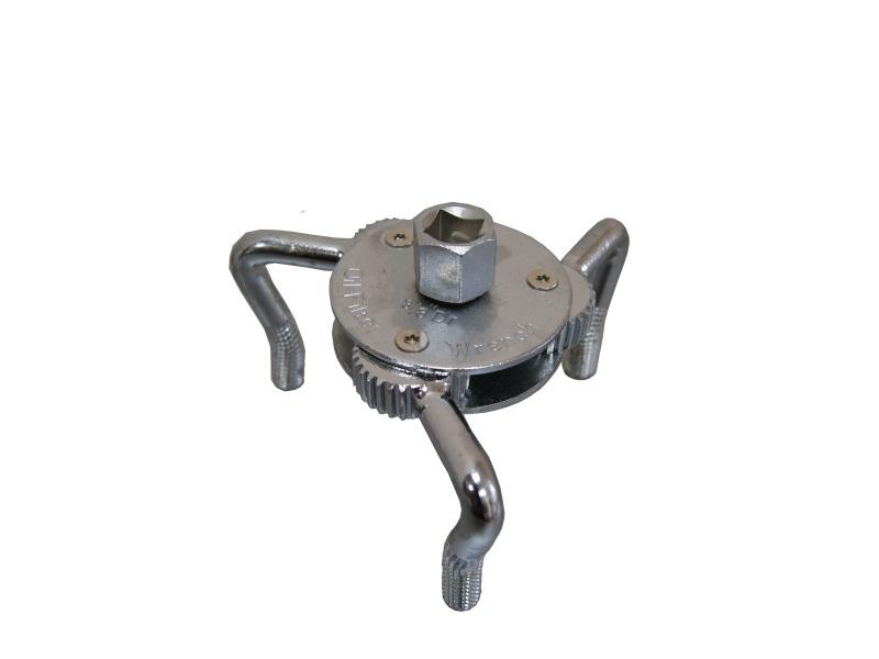 Съемник масляного фильтра Skybear, трехрожковый98293777Съемник масляного фильтра, трехрожковый. Предназначен для легкого демонтажа масляных фильтров ДВС. Благодаря автоматической регулировке подходит для большинства масляных фильтров. Предназначен для фильтров диаметром 45-75 мм.
