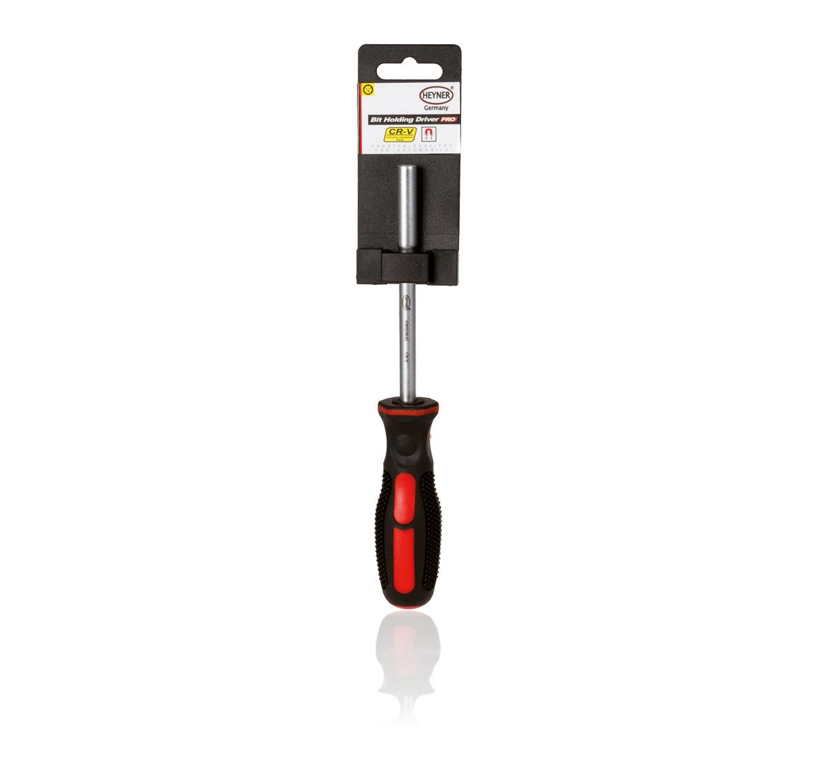 Отвертка-держатель для сменных бит Heyner98298130Отвертка-держатель для сменных бит, магнитный держатель. Эргономичная и не скользящая ручка.