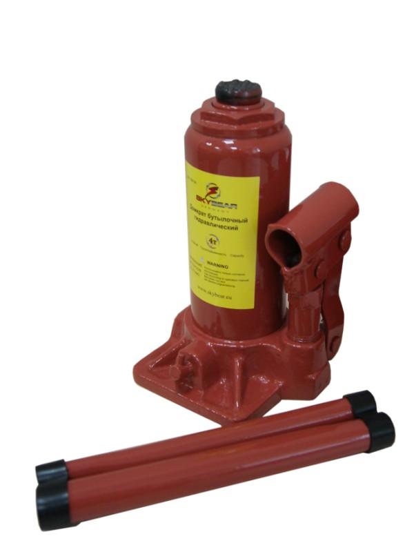 Домкрат бутылочный Skybear, гидравлический, 4 т домкрат гидравлический бутылочный skybear 6т  410610