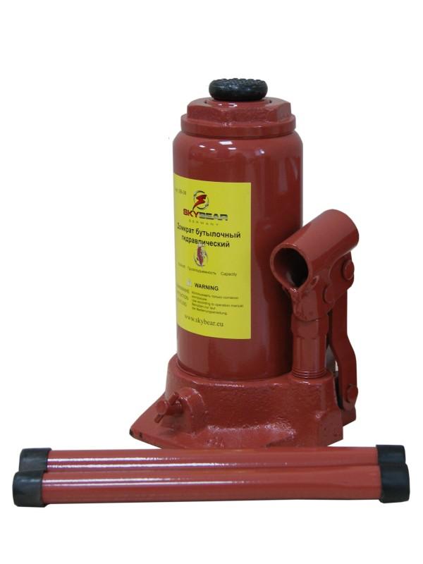 Домкрат бутылочный Skybear, гидравлический, 8 т домкрат гидравлический бутылочный skybear 6т  410610