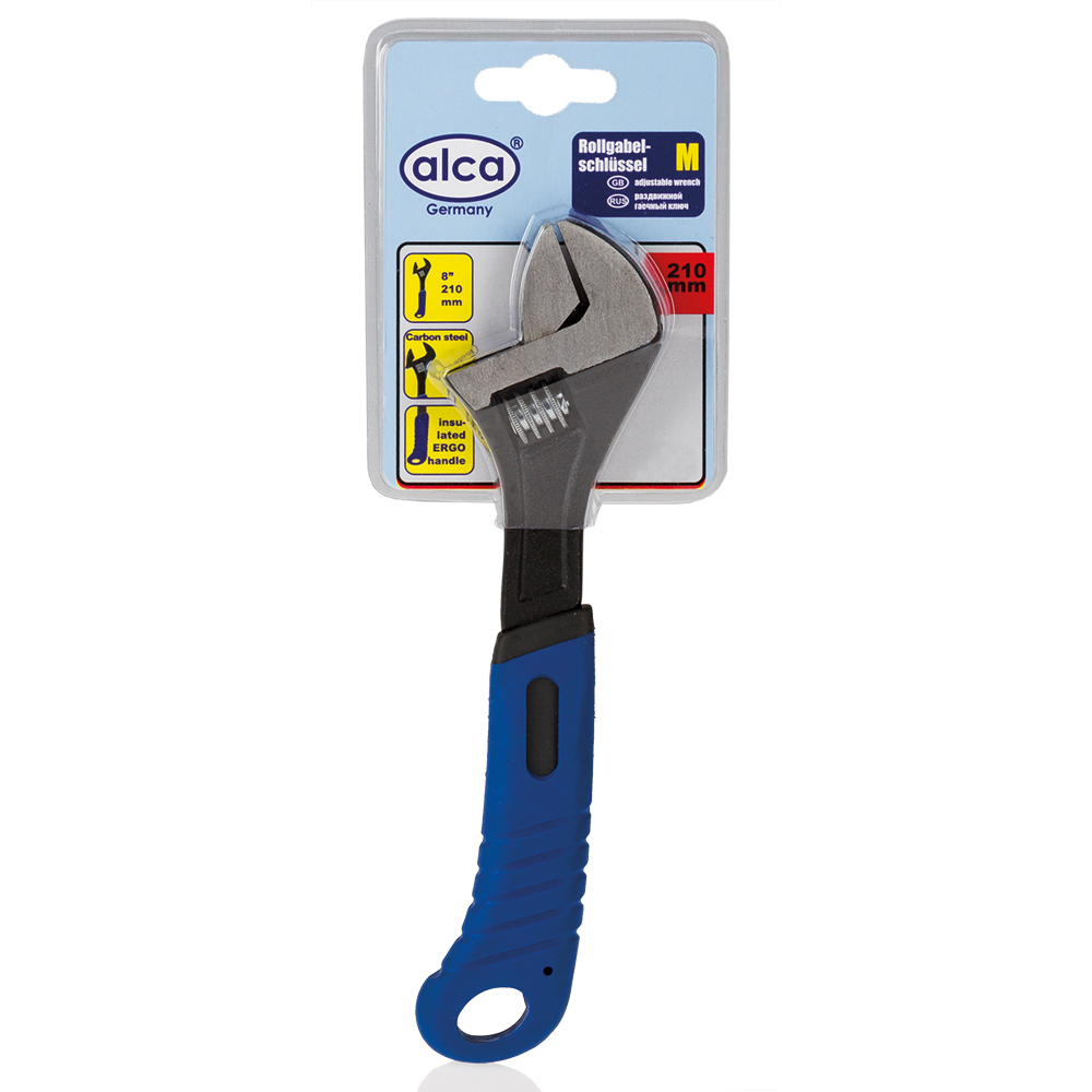 Ключ разводной Alca, 170 мм98298130Разводной ключ Alca применяется для монтажа и демонтажа крепежных элементов, имеющих шестигранный профиль. Он изготовлен из высококачественной карбоновой стали. Изолированная противоскользящая рукоятка обеспечивает максимально удобный хват.Длина ключа: 17 см.