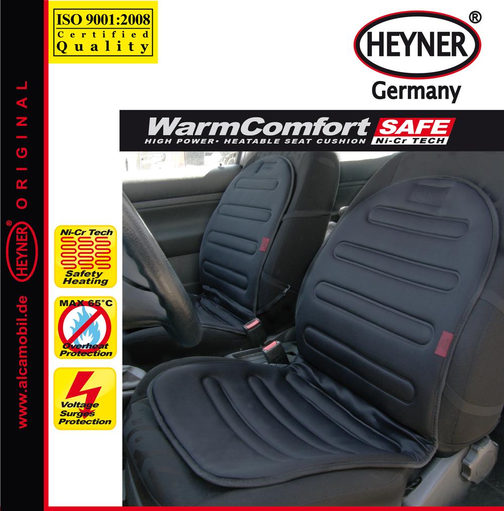 Накидка на сиденье Heyner, с подогревом, 12В, 42 Вт, цвет: черный98298130Накидка на сиденье с подогревом 12В 42 Вт. Черная. Защита от прегрева. Кабель 140 см.