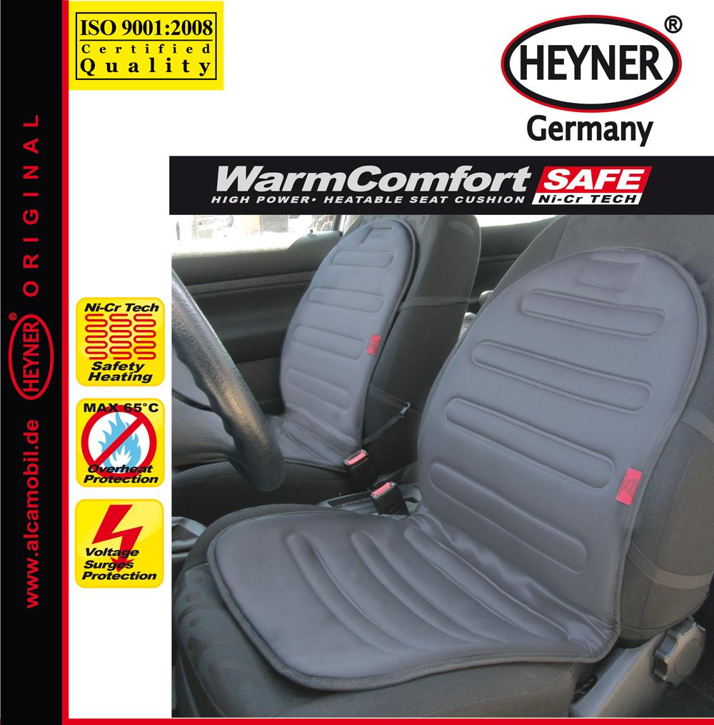 Накидка на сиденье Heyner, с подогревом, цвет: серый, 12В, 42 Вт21395599Накидка Heyner предназначена для сиденья водителя. Изделие выполнено из прочного материала и снабжено большой поверхностью подогрева. Нагревательные элементы устойчивы к поломке. Накидка снабжена кабелем для подключения к прикуривателю. Защита от перегрева гарантирует долгий срок службы. Длина кабеля: 140 см. Мощность: 42 Вт. Напряжение: 12V.
