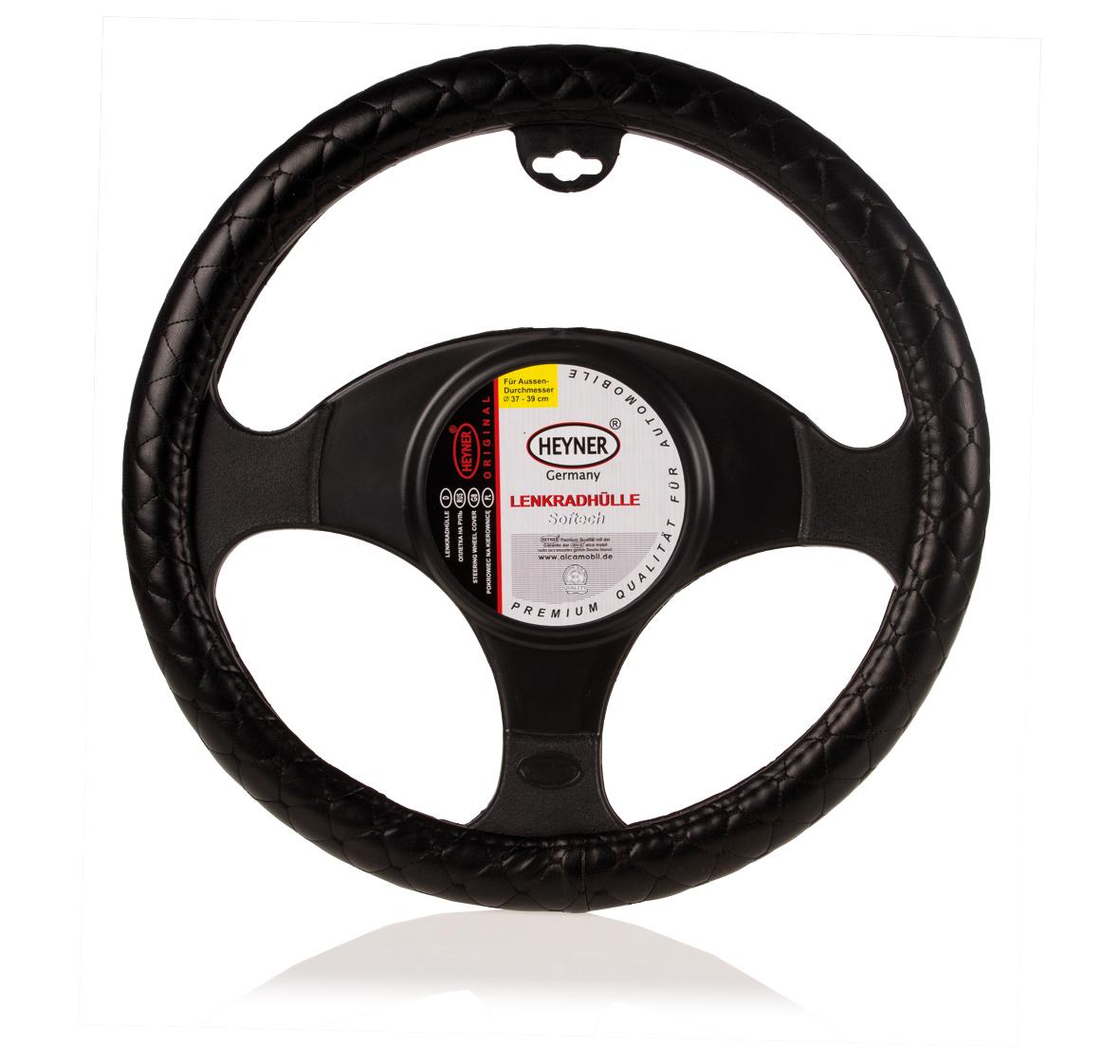 Чехол на руль Heyner, натуральная кожа, цвет: черный, диаметр 37-39 см300129Чехол на руль нат.кожа черный d 37-39