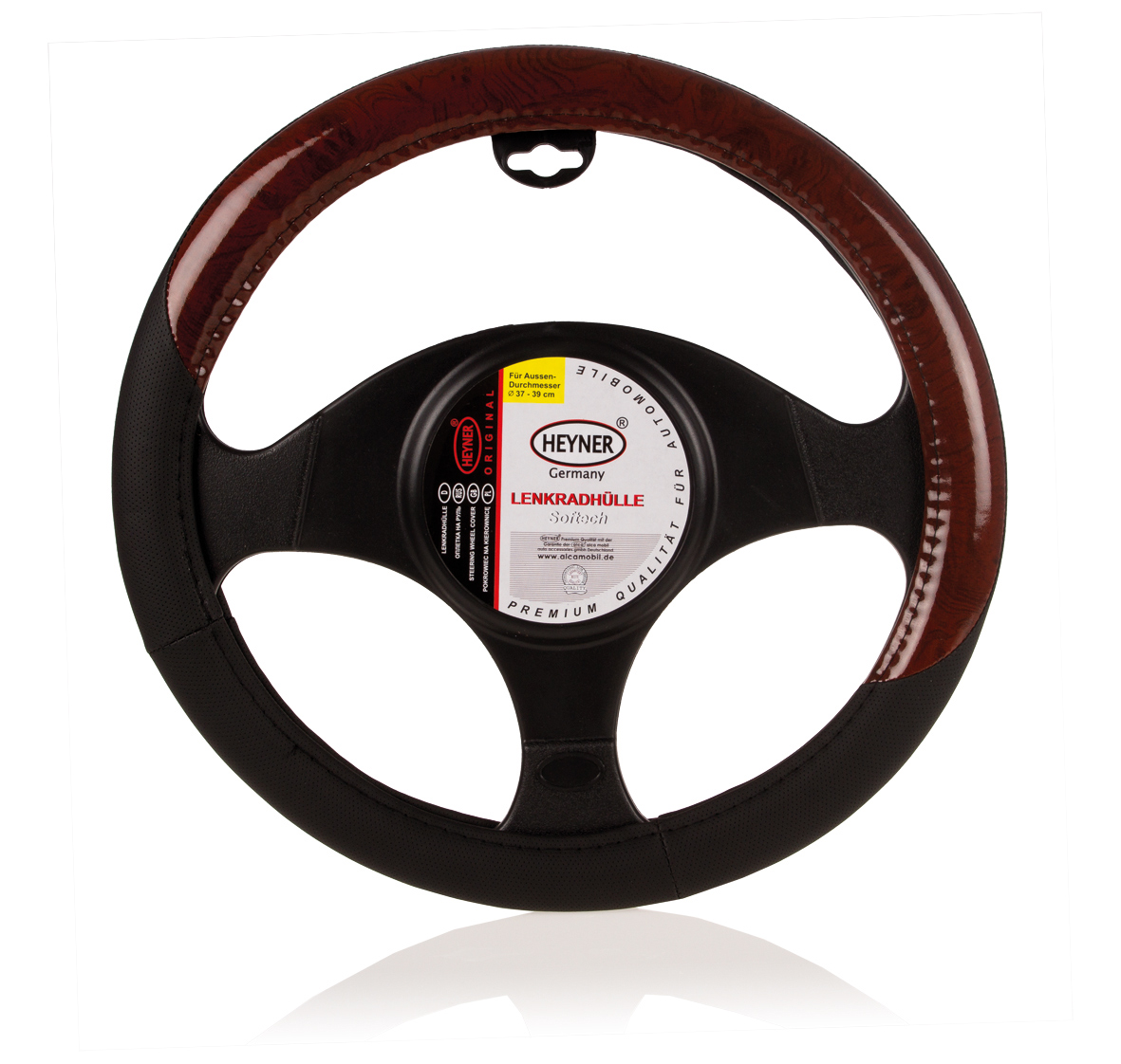 Чехол на руль Heyner, диаметр 37-39 см. 604000Ветерок 2ГФЧехол на руль Heyner изготовлен из высококачественной, приятной на ощупь натуральной кожи, которая обеспечивает комфортное соприкосновение рук водителя с рулем. Имея стандартный размер, подходит для большинства иностранных автомобилей и отечественных моделей. Чехол легко устанавливается на рулевое колесо автомобиля, защищает его от потертостей и загрязнений. Чехол на руль Heyner позволит сделать интерьер автомобиля более выразительным и комфортным.