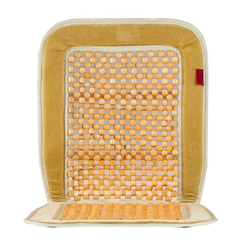 Накидка-массажер на сиденье Heyner, деревянные шарики, цвет: бежевый98298130Накидка Heyner обеспечивает массаж и охлаждение для водителя и пассажиров посредством деревянных шариков. Быстро и просто устанавливается на сиденье. Накидка выполнена из велюра.