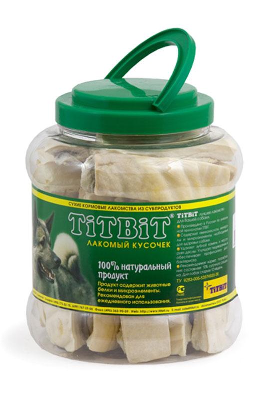 Лакомство для собак Titbit, крекер говяжий, 4,3 л0120710Лакомство для собак Titbit выполнено из высушенной говяжьей кожи, свернутой в форме крекеров. Благодаря большому содержанию аминокислот и коллагена положительно воздействует на хрящевую ткань, состояние кожи и шерсти собаки. Благодаря волокнистой структуре являются своеобразной зубной щеткой, способствующей укреплению десен, удалению зубного налета и профилактике образования зубного камня. Прекрасное лакомство для всех собак с 1,5-2 месячного возраста. Состав: высушенная говяжья кожа. Товар сертифицирован.Уважаемые клиенты!Обращаем ваше внимание на возможные изменения в дизайне упаковки. Качественные характеристики товара остаются неизменными. Поставка осуществляется в зависимости от наличия на складе.