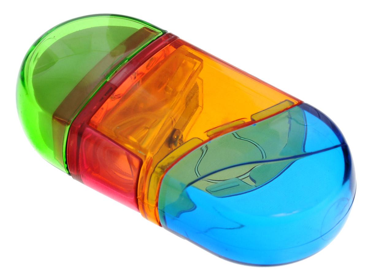 Herlitz Точилка с ластиком цвет желтый зеленый синий72523WDТочилка Herlitz предназначена для заточки карандашей диаметром 8 мм. Имеется съемный контейнер для стружки. Точилка дополнена ластиком.