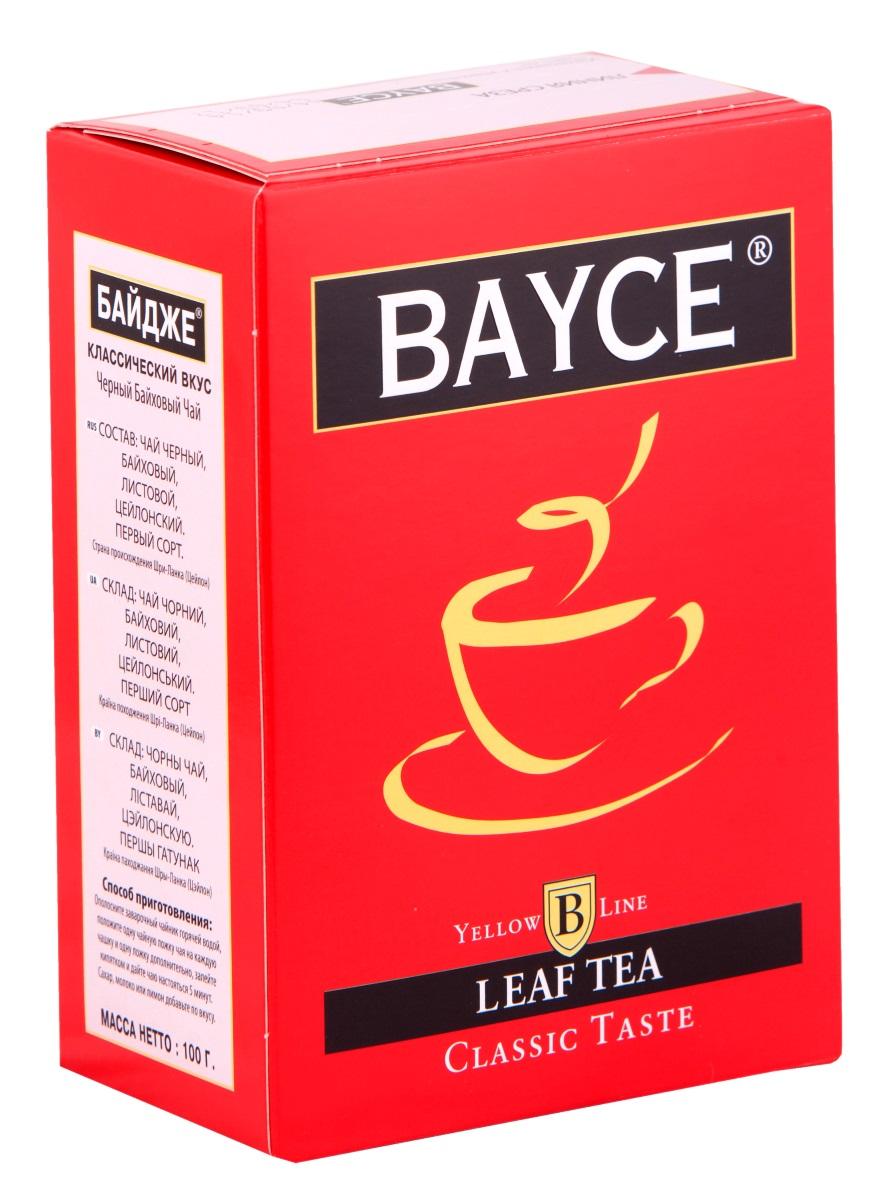 Bayce Классический вкус черный чай, 100 г4607014860697Bayce Классический вкус - превосходный классический чай, собранный на чайных плантациях острова Цейлон. Приятный вкус и целебные свойства делают этот сорт особенно привлекательным.