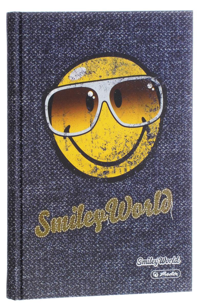 Herlitz Записная книжка Smiley World 96 листов в клетку72523WDЗаписная книжка Herlitz Smiley World - незаменимый атрибут современного человека, необходимый для рабочих и повседневных записей в офисе и дома. Записная книжка содержит 96 листов формата А5 в клетку. Обложка, выполненная из плотного картона, оформлена изображением забавного смайла в темных очках. Прошитый внутренний блок гарантирует полное отсутствие потери листов.Записная книжка Herlitz Smiley World станет достойным аксессуаром среди ваших канцелярских принадлежностей. Она подойдет как для деловых людей, так и для любителей записывать свои мысли, рисовать скетчи, делать наброски.