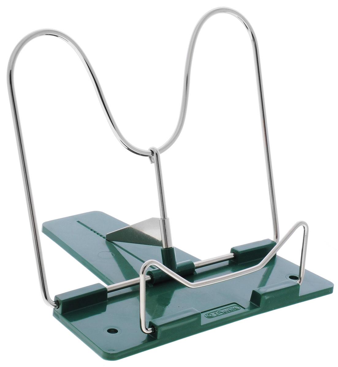 Herlitz Подставка для книг цвет зеленый0703415Подставка Herlitz - это классическая подставка для книг. Она станет незаменимым аксессуаром на столе у школьника или студента. Подставка оснащена упором, благодаря чему она имеет несколько углов наклона.
