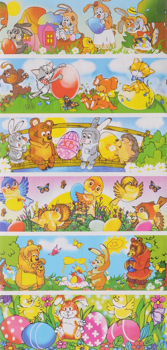 Набор наклеек для декорирования яиц Home Queen, 12 шт. 70105_340970Набор Home Queen состоит из 12 наклеек, которые предназначены для декорирования пасхальных яиц. Наклейки выполнены из бумаги и украшены разнообразными рисунками. Такой набор украшений создаст атмосферу праздника в вашем доме. Размер наклейки: 14,5 х 4,5 см.