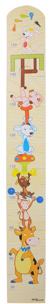 Step Puzzle Ростомер-пазл ЦиркUTT-91Ростомер-пазл Step Puzzle Цирк - это деревянный пазл для измерения роста детей. Состоит из 4 деталей. Ростомер-пазл с забавными зверюшками способствует развитию малыша (яркие картинки и занимательная сборка пазла), помогает наблюдать за ростом ребенка (простой и эффективный способ наблюдения), служит отличным украшением детской. Особенности: идеальная сцепка, экологически чистый материал, гладкие детали.