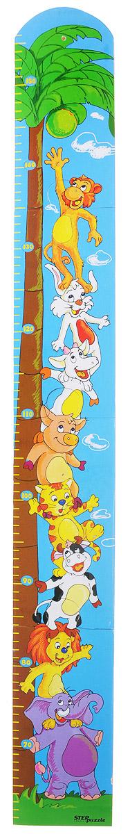 Step Puzzle Ростомер-пазл Пальма89015_пальмаРостомер-пазл Step Puzzle Пальма - это деревянный пазл для измерения роста детей. Состоит из 4 деталей. Ростомер-пазл с забавными зверушками способствует развитию малыша (яркие картинки и занимательная сборка пазла), помогает наблюдать за ростом ребенка (простой и эффективный способ наблюдения), служит отличным украшением детской. Особенности: идеальная сцепка, экологически чистый материал, гладкие детали.