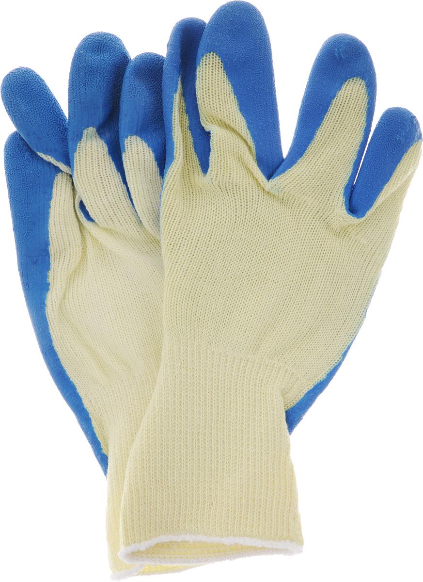 Перчатки хозяйственные Текос Евро. Размер МNN-604-LS-BUХозяйственные перчатки Текос Евро, произведены из натурального хлопка и высококачественного латекса, рифленая поверхность позволяет удерживать мокрые предметы. Перчатки подходят для различных видов работ на садовом участке, строительных и ремонтных. Изделия защищают от попадания влаги и грязи, химических средств.