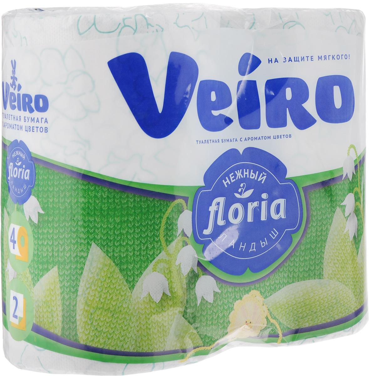 Туалетная бумага Veiro Floria. Нежный ландыш, двухслойная, ароматизированная, 4 рулона391602Двухслойная туалетная бумага Veiro Floria. Нежный ландыш изготовлена по новейшей технологии из 100% ароматизированной целлюлозы, благодаря чему она имеет тонкий аромат, очень мягкая, нежная, но в тоже время прочная. Перфорация надежно скрепляет слои бумаги. Туалетная бумага Veiro Floria. Нежный ландыш сочетает в себе простоту и оригинальность. Состав: 100% ароматизированная целлюлоза. Количество слоев: 2.Размер листа: 12,5 х 9,1 см.Длина рулона: 21,9 м.Количество рулонов: 4 шт.