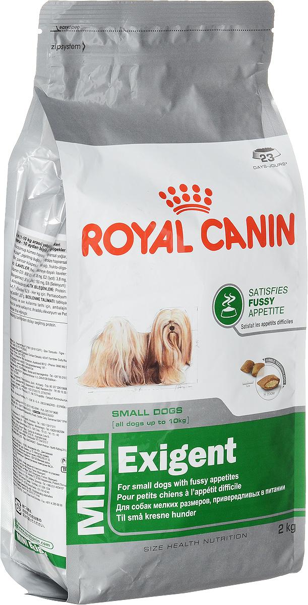 Корм сухой Royal Canin Mini Exigent, для собак мелких пород, привередливых в питании, 2 кг0120710Royal Canin Mini Exigent - это полнорационный сухой корм для собак мелких размеров (вес взрослой собаки до 10 кг) в возрасте старше 10 месяцев, привередливых в питании. Высокая вкусовая привлекательность. Специальная технология изготовления крокет сочетает 2 вида текстур (хрустящую и мягкую), а также уникальные вкусовые добавки, что придется по вкусу даже самым привередливым собакам мелких размеров. Здоровая шерсть. Питает шерсть благодаря включению в состав корма серосодержащих аминокислот (метионин и цистин), жирных кислот Омега 6 и витамина А.Здоровье зубов. Помогает замедлить образование зубного налета благодаря полифосфату натрия, который связывает кальций, содержащийся в слюне. Состав: дегидратированное мясо птицы, животные жиры, предварительно обработанная пшеничная мука, рис, изолят растительных белков L.I.P., гидролизат белков животного происхождения, кукурузная мука, растительная клетчатка, свекольный жом, рыбий жир, минеральные вещества, фруктоолигосахариды, масло огуречника аптечного 0,1%.Добавки в 1 кг: витамин А 29500 МЕ, витамин D3 800 МЕ, железо 38 мг, йод 3,8 мг, марганец 50 мг, цинк 150 мг, селен 0,08 мг. Товар сертифицирован.