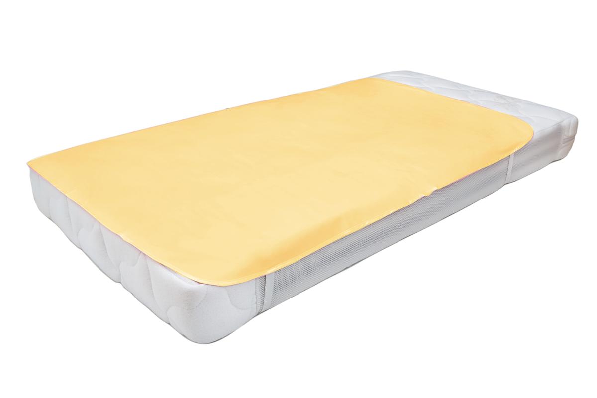 Колорит Клеенка подкладная с резинками-держателями 100 х 70 см цвет желтый