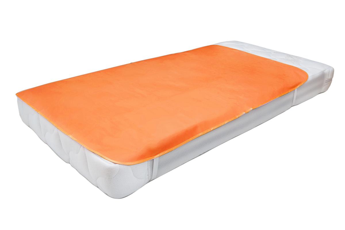 Колорит Клеенка подкладная с резинками-держателями цвет оранжевый 70 х 100 см  колорит клеенка подкладная с резинками держателями 100 смх 70 цвет белый
