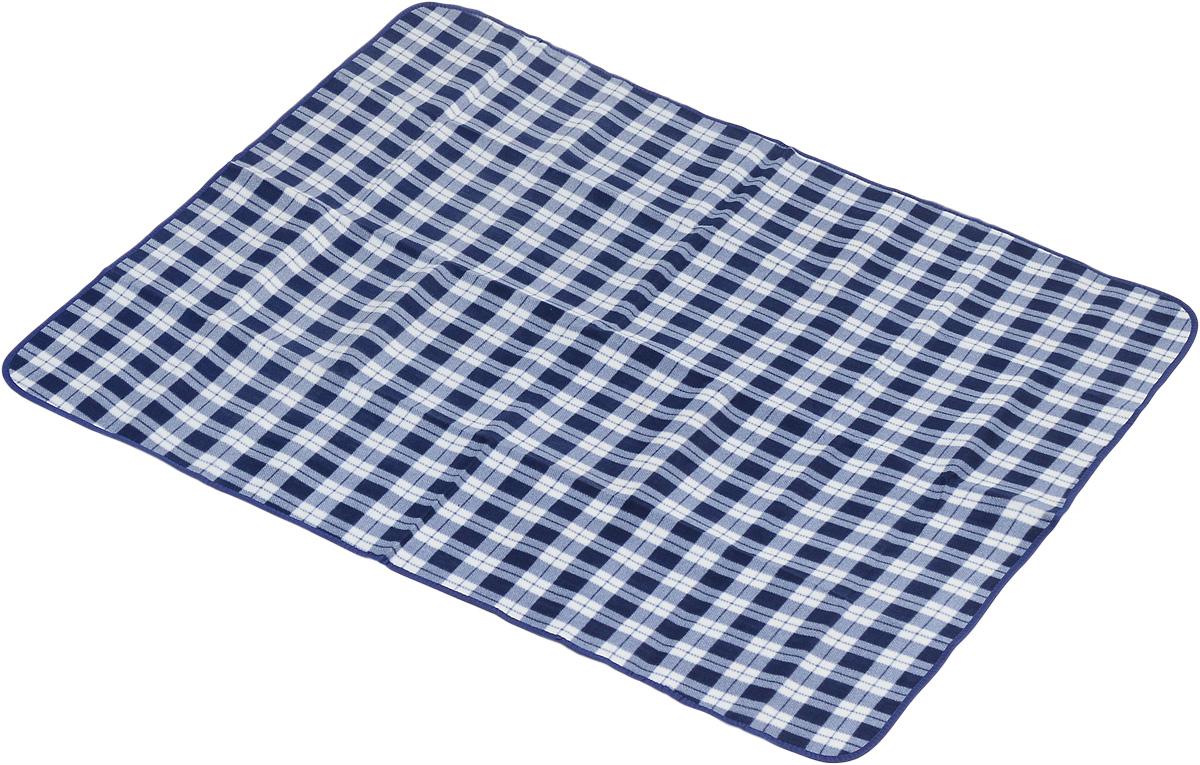 Коврик для пикника Wildman Виши, цвет: синий, белый, 130 х 150 см81-396_белый, квадратыКоврик для пикника Wildman Виши, выполненный из хлопка и полимерных материалов, позволит полноценно отдохнуть на природе.Он легкий, не занимает много места и прекрасно изолирует человеческое тело от холода и влаги. Мягкая поверхность коврика защищает от неровностей почвы, поэтому туристам, имеющим такую подстилку, гарантирован, кроме удобного отдыха, еще и комфортный сон.