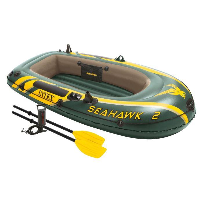 Лодка надувная Intex Seahawk 2, цвет: зеленый. 68347NP intex монстр шина с ручками 114 см арт 56268