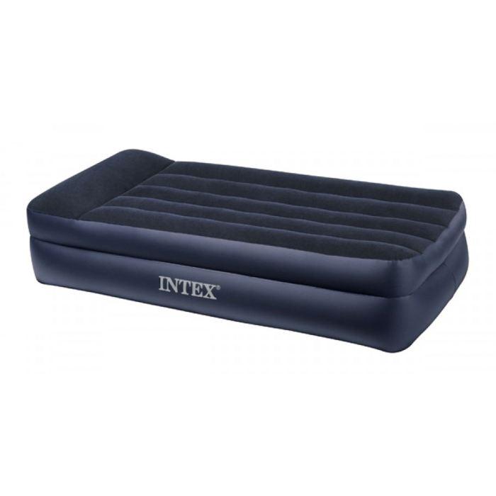 Кровать надувная Intex Twin 99x191x42 см, цвет: черный. 66721