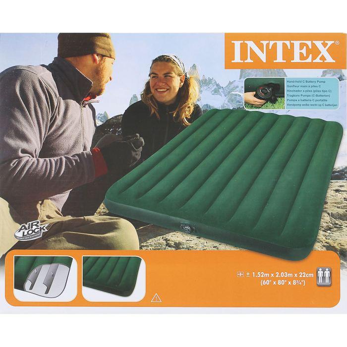 Матраc надувной Intex Prestige Downy Queen 152х203х22 см, цвет: зеленый. 66969 - Складная и надувная мебель