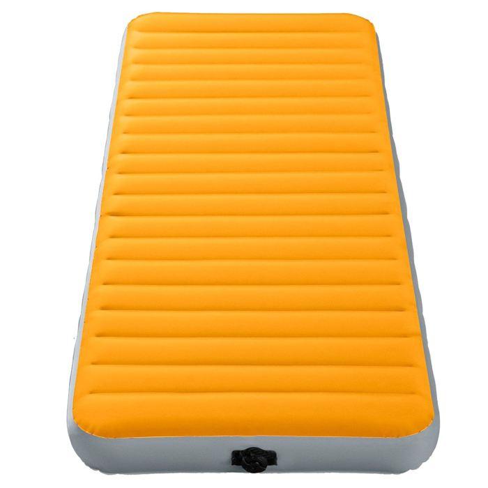 Матрас надувной Intex Super-Tough 76х191х15см, цвет: оранжевый. 6479067742Вы любите одновременно походы и комфорт? Этот вариант для вас! Все что вам нужно - поставить палатку, разложить матрас и надуть его. Все очень просто. Осталось только лечь сладко спать, ведь вы теперь не будете чувствовать спиной каждый камушек, холмик или любую неровность.Матрас надувной Super-Tough 76х191х15см