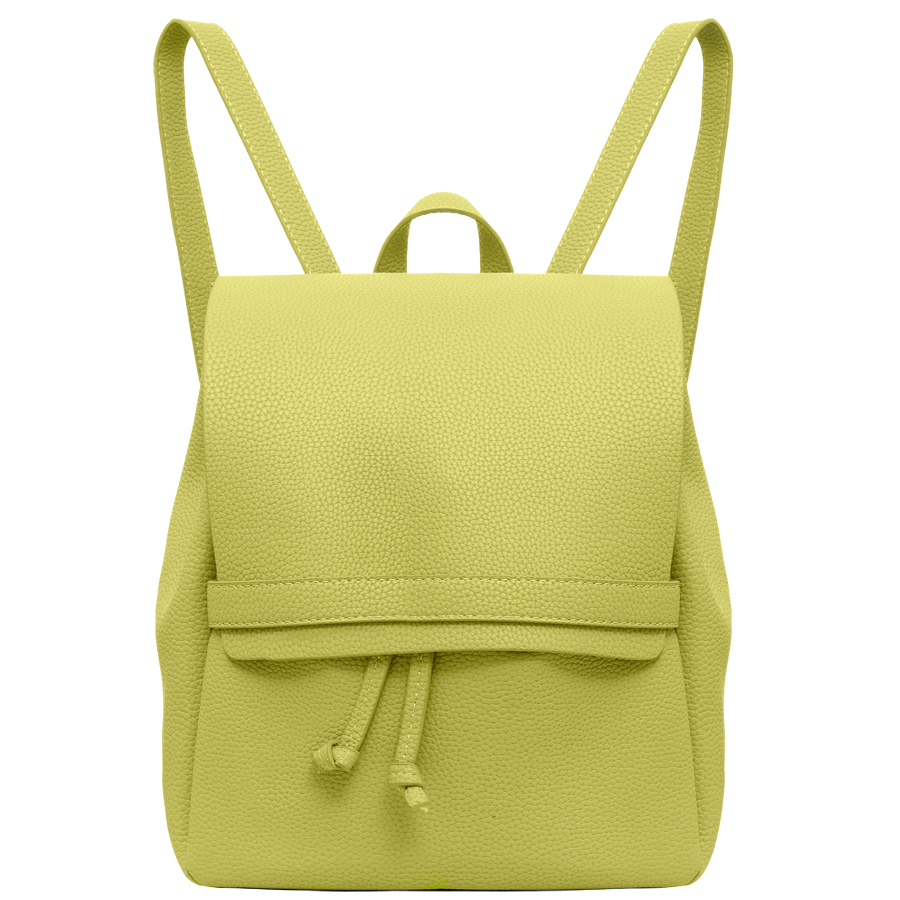Рюкзак женский OrsOro, цвет: желтый. D-245/193-47670-00504Стильный рюкзак OrsOro, выполнен из экокожи и оснащен двумя плечевыми ремнями на спинке и удобной ручкой для переноски. Изделие затягивается с помощью шнурков и закрывается клапаном на хлястик с фиксатором, внутри имеет одно вместительное отделение. Сумка-рюкзак OrsOro - это выбор молодой, уверенной, стильной женщины, которая ценит качество и комфорт. Изделие станет изысканным дополнением к вашему образу.