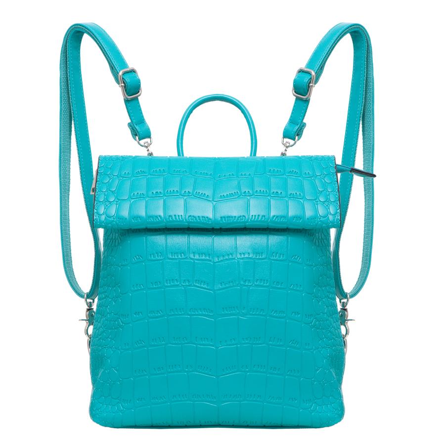 Рюкзак женский OrsOro, цвет: бирюзовый. D-247/623008Стильный рюкзак OrsOro, выполнен из экокожи и оснащен двумя плечевыми регулируемыми ремнями на спинке и удобной ручкой для переноски. Изделие закрывается на магнитную кнопку с помощью раскладывающегося клапана, внутри имеет одно вместительное отделение с одним накладным карманом для телефона и мелочей и одним прорезным карманом на застежке-молнии. С тыльной стороны изделия имеется прорезной карман на застежке-молнии. Сумка-рюкзак OrsOro - это выбор молодой, уверенной, стильной женщины, которая ценит качество и комфорт. Изделие станет изысканным дополнением к вашему образу.