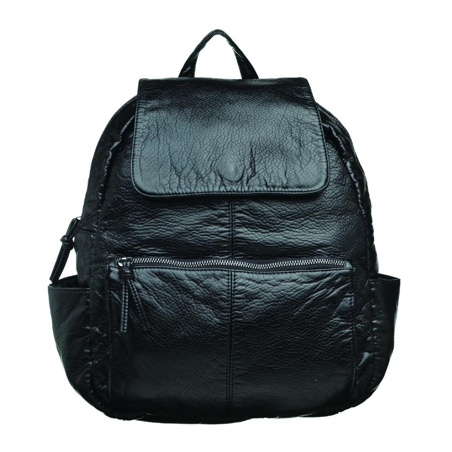 Рюкзак женский OrsOro, цвет: черный. D-251/171069с-2Стильный рюкзак OrsOro, выполнен из экокожи и оснащен двумя плечевыми регулируемыми ремнями на спинке и удобной ручкой для переноски. Изделие закрывается на застежку-молнию, внутри имеет одно вместительное отделение с одним накладным карманом для телефона и мелочей и одним прорезным карманом на застежке-молнии. С тыльной стороны изделия имеется прорезной карман на застежке-молнии. Рюкзак оснащен также передним накладным карманом на молнии и двумя боковыми карманами для мелочей.Сумка-рюкзак OrsOro - это выбор молодой, уверенной, стильной женщины, которая ценит качество и комфорт. Изделие станет изысканным дополнением к вашему образу.