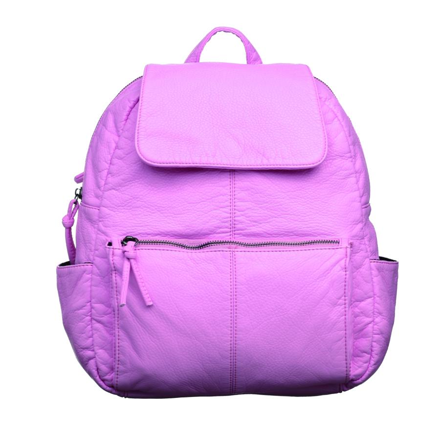 Рюкзак женский OrsOro, цвет: розовый. D-251/20967-637T-17s-01-42Стильный рюкзак OrsOro, выполнен из экокожи и оснащен двумя плечевыми регулируемыми ремнями на спинке и удобной ручкой для переноски. Изделие закрывается на застежку-молнию и дополнительно клапаном на кнопку, внутри имеет одно вместительное отделение с одним накладным карманом для телефона и мелочей и одним прорезным карманом на застежке-молнии. С тыльной стороны изделия имеется прорезной карман на застежке-молнии. Рюкзак оснащен также передним накладным карманом на молнии и двумя боковыми карманами для мелочей.Сумка-рюкзак OrsOro - это выбор молодой, уверенной, стильной женщины, которая ценит качество и комфорт. Изделие станет изысканным дополнением к вашему образу.