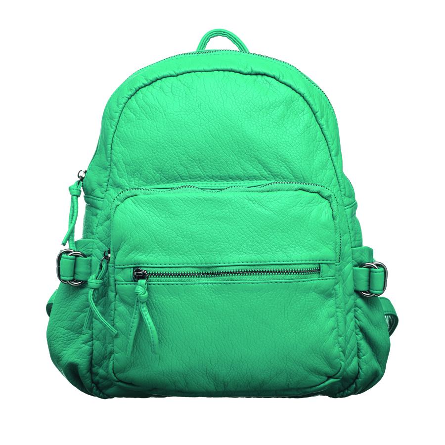 Рюкзак женский OrsOro, цвет: бирюзовый. D-252/6BM8434-58AEСтильный женский рюкзак OrsOro не оставит вас равнодушной благодаря своему дизайну. Он изготовлен из мягкой экокожи зернистой текстуры. На лицевой стороне расположен объемный карман на молнии и вшитый карман на молнии для мелочей. Рюкзак имеет удобные боковые карман, объем которых регулируется с помощью ремешков с пряжками. Изделие закрывается на удобную молнию. Внутри расположено вместительное главное отделение, которое содержит два открытых накладных кармана для телефона и мелочей и один вшитый карман на молнии. Рюкзак оснащен удобными лямками, длину которых можно регулировать с помощью пряжек. Такой рюкзак подчеркнет ваш неповторимый образзаймет достойное место в вашем гардеробе.