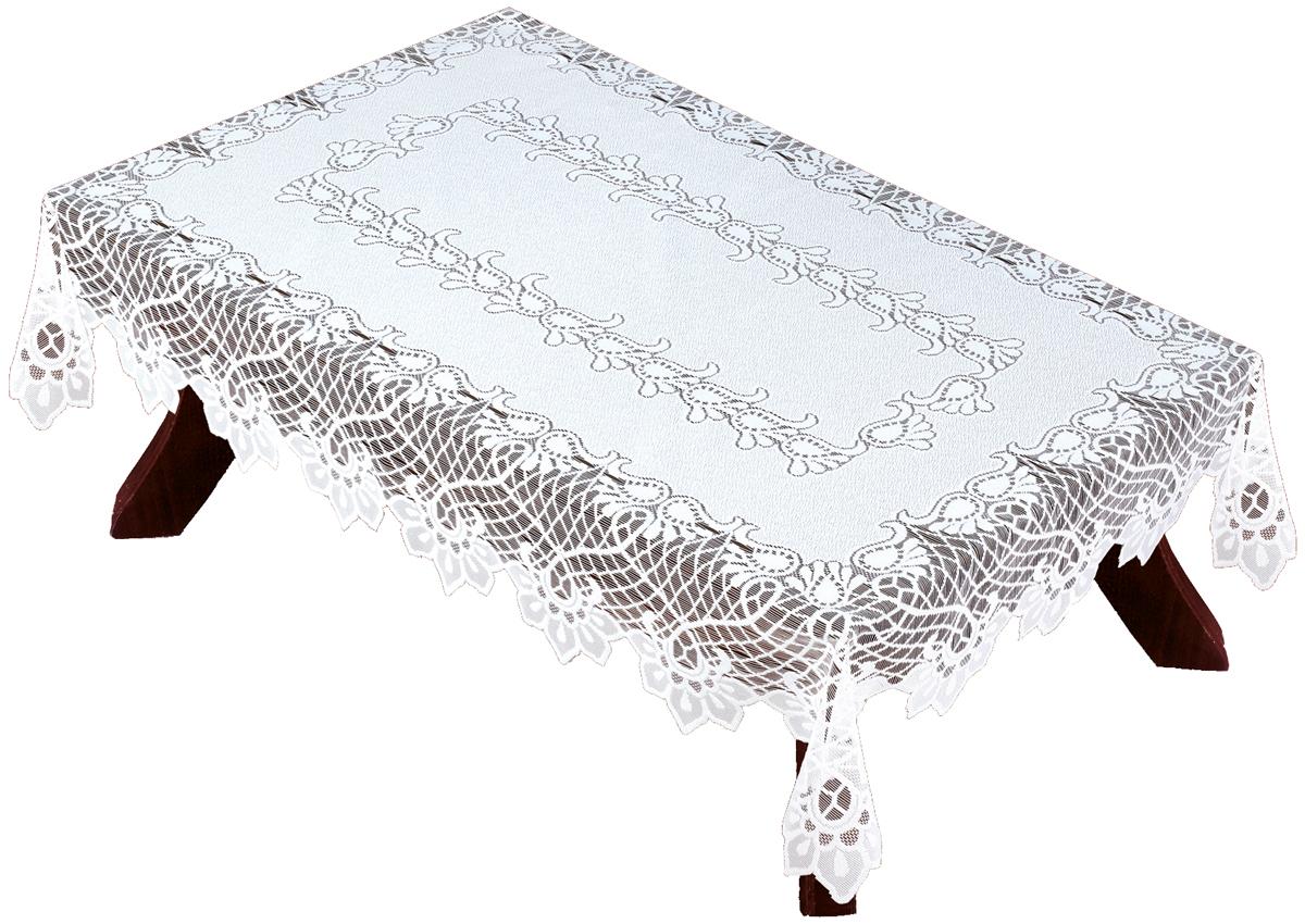 Скатерть Haft, прямоугольная, цвет: белый, 130 х 180 см. 54880VT-1520(SR)Великолепная скатерть Haft, выполненная из полиэстера, органично впишется в интерьер любого помещения, а оригинальный дизайн удовлетворит даже самый изысканный вкус.Скатерть Haft создаст праздничное настроение и станет прекрасным дополнением интерьера гостиной, кухни или столовой.